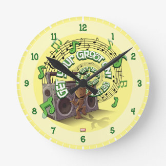 Guardians of the Galaxy   Groot Boombox Round Clock