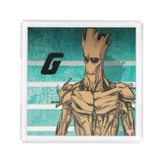 Guardians of the Galaxy | Groot Mugshot Acrylic Tray