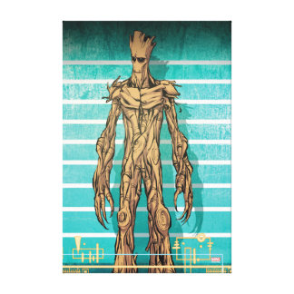 Guardians of the Galaxy | Groot Mugshot Canvas Print
