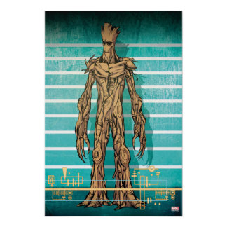 Guardians of the Galaxy | Groot Mugshot Poster