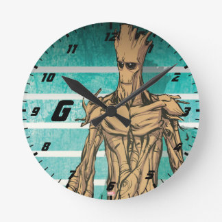 Guardians of the Galaxy | Groot Mugshot Round Clock