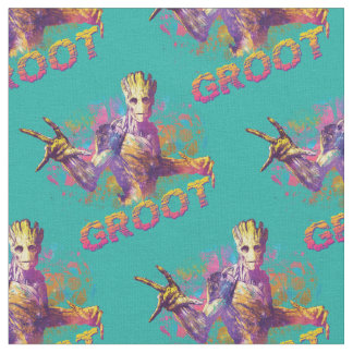 Guardians of the Galaxy | Groot Neon Graphic Fabric