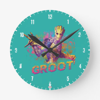 Guardians of the Galaxy | Groot Neon Graphic Round Clock