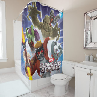 Guardians of the Galaxy | Group Attack Shower Curtain