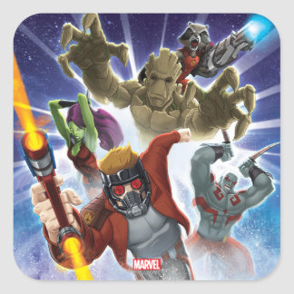 Guardians of the Galaxy | Group Attack Square Sticker