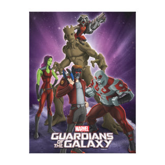 Guardians of the Galaxy | Group In Space Canvas Print
