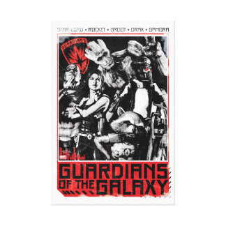 Guardians of the Galaxy | Grunge Crew Art Canvas Print