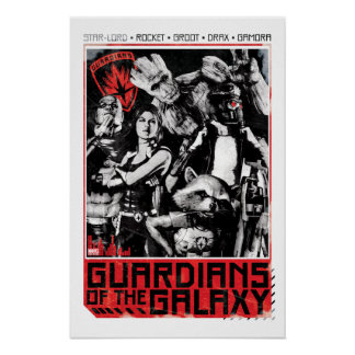 Guardians of the Galaxy | Grunge Crew Art Poster