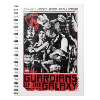 Guardians of the Galaxy | Grunge Crew Art Spiral Notebook
