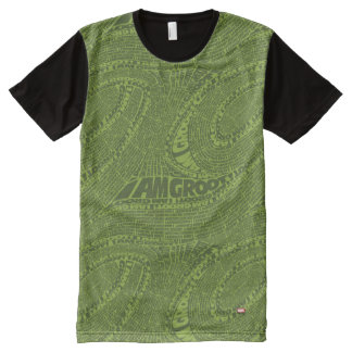 Guardians of the Galaxy | I Am Groot Typography All-Over Print T-Shirt