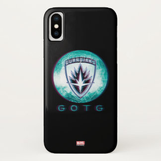 Guardians of the Galaxy | Interlaced Badge iPhone X Case