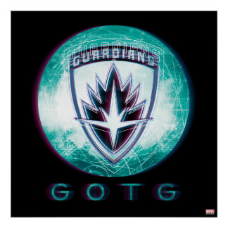 Guardians of the Galaxy | Interlaced Badge Poster