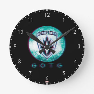 Guardians of the Galaxy | Interlaced Badge Round Clock
