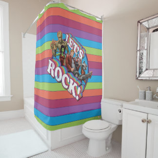 Guardians of the Galaxy | Let's Rock! Shower Curtain
