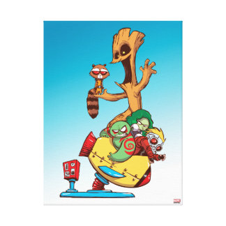 Guardians of the Galaxy | Mechanical Rocket Ride Canvas Print