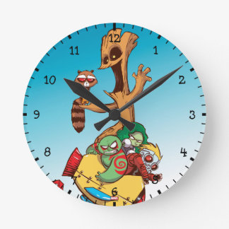 Guardians of the Galaxy   Mechanical Rocket Ride Round Clock