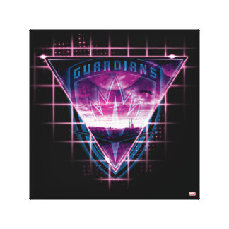 Guardians of the Galaxy | Neon Superimposed Logo Canvas Print