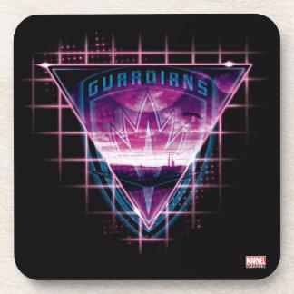 Guardians of the Galaxy | Neon Superimposed Logo Coaster