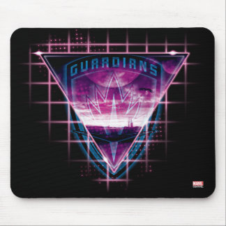 Guardians of the Galaxy   Neon Superimposed Logo Mouse Pad