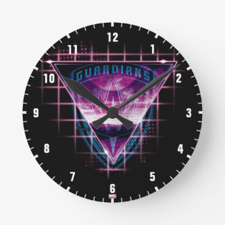 Guardians of the Galaxy | Neon Superimposed Logo Round Clock