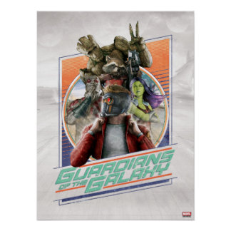 Guardians of the Galaxy | Retro Crew Art Poster