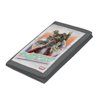 Guardians of the Galaxy | Retro Crew Art Trifold Wallets