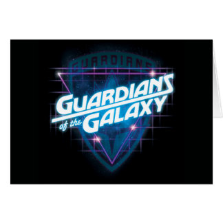 Guardians of the Galaxy | Retro Logo Card