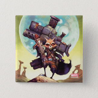Guardians of the Galaxy | Rocket Armed & Ready 15 Cm Square Badge