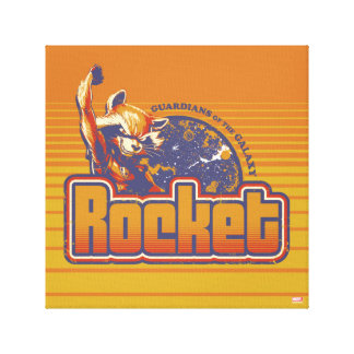 Guardians of the Galaxy | Rocket Character Badge Canvas Print