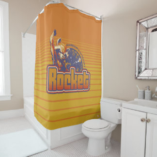 Guardians of the Galaxy | Rocket Character Badge Shower Curtain