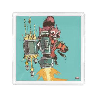 Guardians of the Galaxy | Rocket Full Blast Acrylic Tray