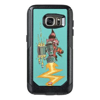 Guardians of the Galaxy   Rocket Full Blast OtterBox Samsung Galaxy S7 Case