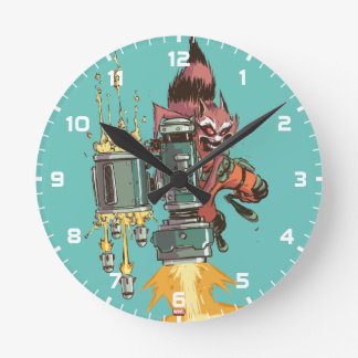 Guardians of the Galaxy | Rocket Full Blast Round Clock