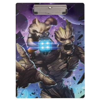Guardians of the Galaxy | Rocket & Groot Attack Clipboard