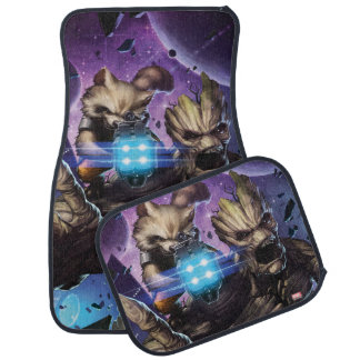 Guardians of the Galaxy | Rocket & Groot Attack Floor Mat