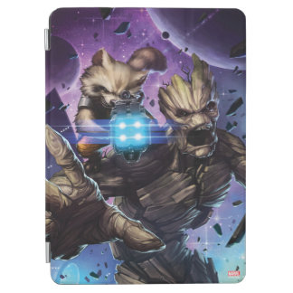 Guardians of the Galaxy   Rocket & Groot Attack iPad Air Cover