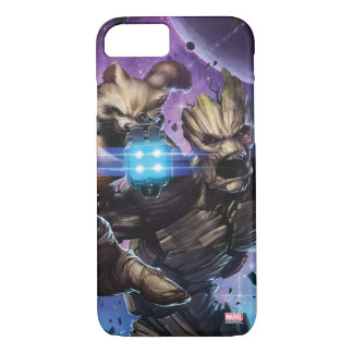 Guardians of the Galaxy   Rocket & Groot Attack iPhone 8/7 Case