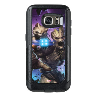 Guardians of the Galaxy   Rocket & Groot Attack OtterBox Samsung Galaxy S7 Case