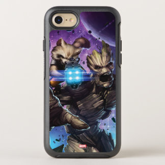 Guardians of the Galaxy | Rocket & Groot Attack OtterBox Symmetry iPhone 8/7 Case