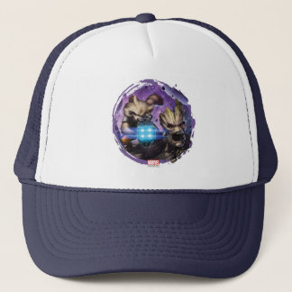 Guardians of the Galaxy | Rocket & Groot Attack Trucker Hat