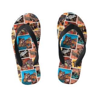 Guardians of the Galaxy | Rocket & Groot Collage Kid's Thongs
