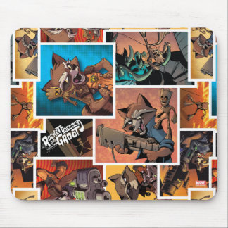Guardians of the Galaxy | Rocket & Groot Collage Mouse Pad