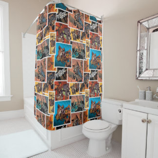 Guardians of the Galaxy | Rocket & Groot Collage Shower Curtain