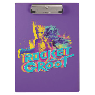 Guardians of the Galaxy | Rocket & Groot Neon Art Clipboard