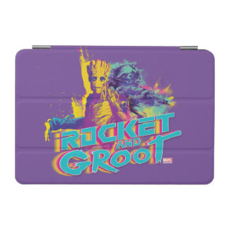 Guardians of the Galaxy | Rocket & Groot Neon Art iPad Mini Cover