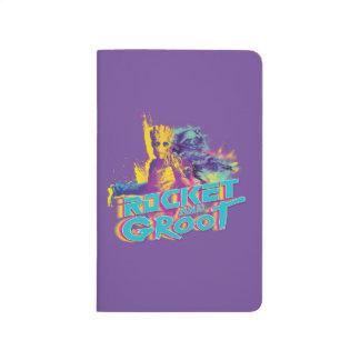Guardians of the Galaxy | Rocket & Groot Neon Art Journal
