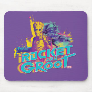Guardians of the Galaxy | Rocket & Groot Neon Art Mouse Pad