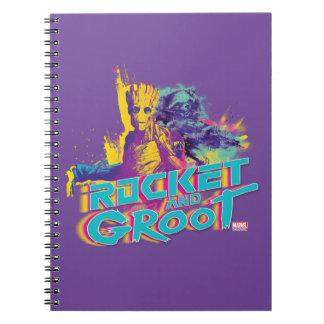 Guardians of the Galaxy | Rocket & Groot Neon Art Notebooks