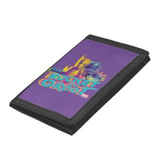 Guardians of the Galaxy | Rocket & Groot Neon Art Tri-fold Wallets