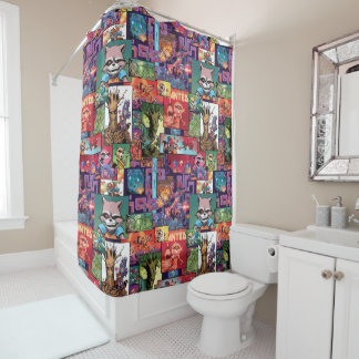 Guardians of the Galaxy | Rocket & Groot Pattern Shower Curtain